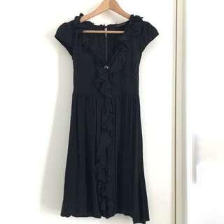 Miss Selfridge little black dress with key hole back UK8