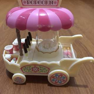 Sylvanian family - popcorn cart & dinning table