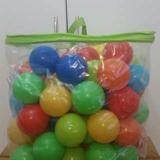 Multicoloured Air-filled Balls