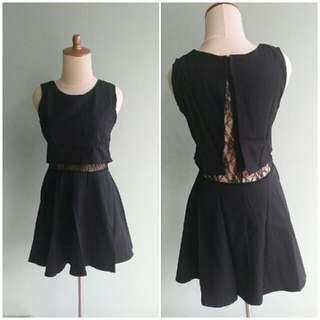 Layer Black Dress hitam brukat