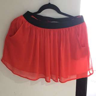 Rok Stradivarius warna Orange sz L