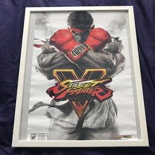 Street Fighter V official poster with frame