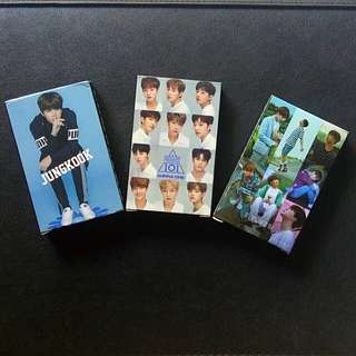 BTS WANNA ONE JUNGKOOK UNOFFICIAL LOMO CARDS