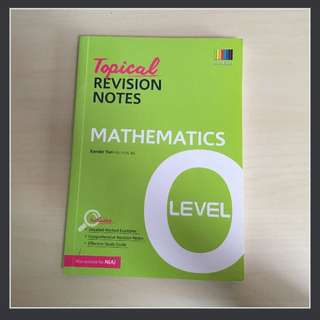 O Level Topical Revision Notes (Math)
