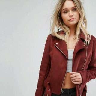 DICARI jacket Suede H&M Dsb Asal Model Seperti Foto