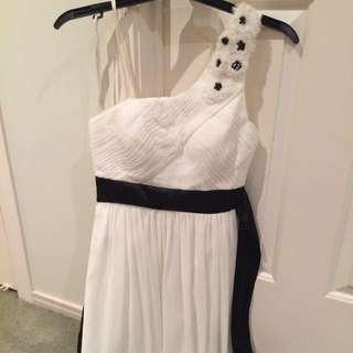 White dress one shoulder