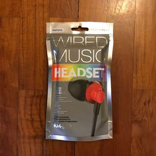 REMAX RM-512 Wired Music Headset/Ear Piece
