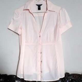 Preloved Original Mango V-neck Shirt