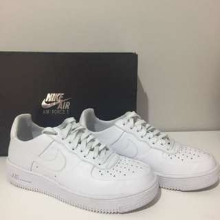 Ultra white nike airforce 1 size 7 women's