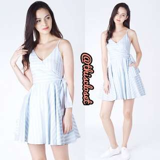 Willow Label Carrie Striped Sundress (Light Blue)