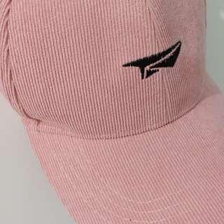 Pink Corduroy Paper Plane Cap