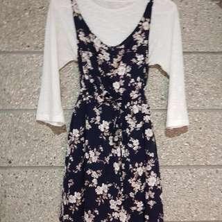 Flower-patterned Dress