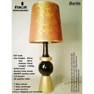 Barite, Lampu Meja, Lampu Hias, Lampu Tidur