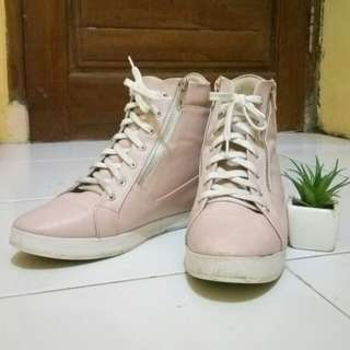 Jacqueline Pink Sneaker Wedges Shoes by Adorable Projects