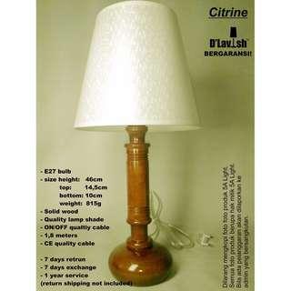 Citrine, Lampu Meja, Lampu Tidur, Table Lamp, Lampu Hias