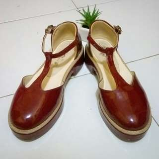 Veragani Maroon Platform Shoes by Adorable Projects