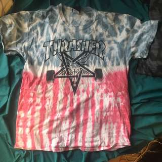 Thrasher red and blue tie dye L