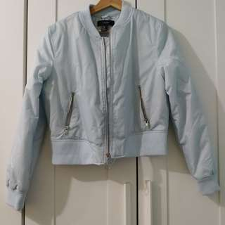 Baby Blue Bomber Jacket