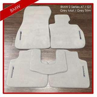 BMW 2 Series AT / GT Custom mats