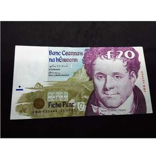 Ireland £20 Pounds banknote (Daniel O'Connell)