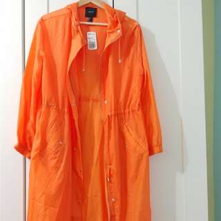 Long Sheer Neon Orange Jacket