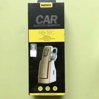 REMAX Car Bluetooth Headphone RB-T6C (Gold)