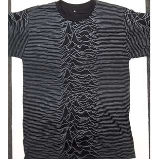 Joy Division - Unknown Pleasures All Over Print Front/Back Medium Only