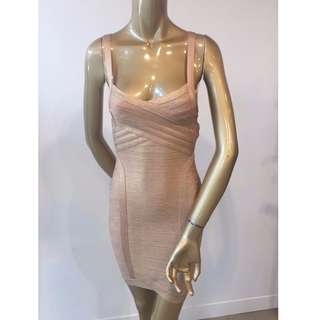 GASP Designer Gold Bandage Mini Party Races Formal Club Dress Size AUS 12/L