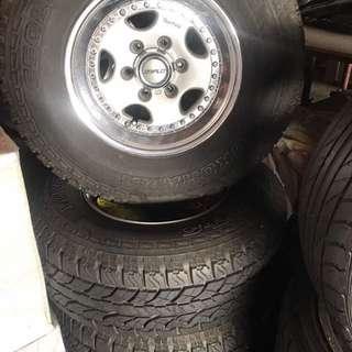 WORK 4x4 sport rim with tyre (4pcs)