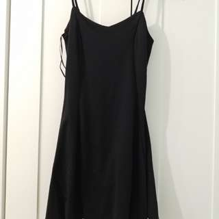 Black Mini Skater Dress