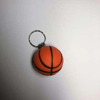 Basketball Stress Toy Keychain