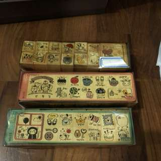 Rubber wooden stamps