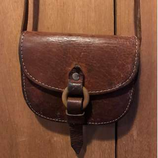 Vintage Small Genuine Leather Shoulder Bag