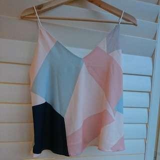 Geometric pastel cami