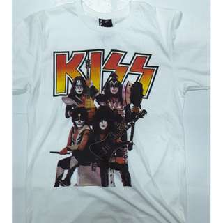 Kiss - Gene Simmons Paul Stanley Ace Frehley Peter Criss T-shirt Medium (Only) Slim Fit