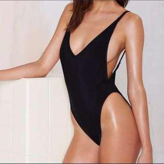 Black Down Low Swimsuit