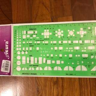 Architect work plan ruler / scale