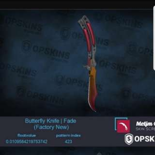0.01 low float Butterfly Fade! CSGO KNIFE