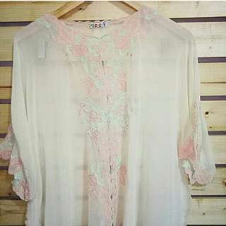 Blouse Mom & Girl Peach Bordir
