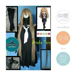 Aisaka Taiga Black Uniform (For Rent Cosplay Costume)
