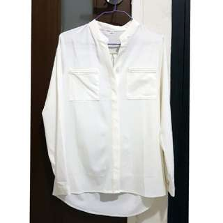 White Blouse with stitched details