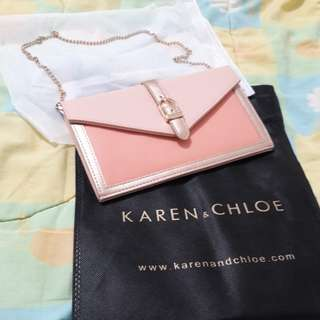 Karen & Chloe Clutch Peach