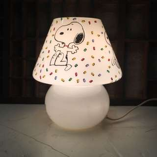 Vintage Snoopy mushrooms bed light retro