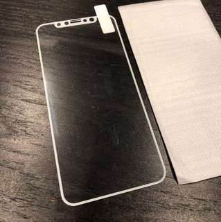 iPhone X 絲印(白色)保護膜