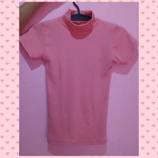Closed Neck Pink Top