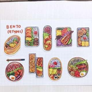 Bento Stickers (9 types)