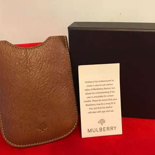 🈹💲100 Mulberry Blackberry Leather Phone Cover ,100% Leather Dimensions 11 x 8 x 1.5cm