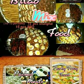 Bilao food.. party tray..packed meals