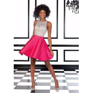 GASP La Femme 9430 Designer Crystal Pink Gown Party Formal Dress Size USA 4