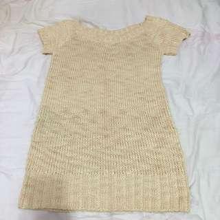 Coco lulu 毛線長版上衣洋裝
